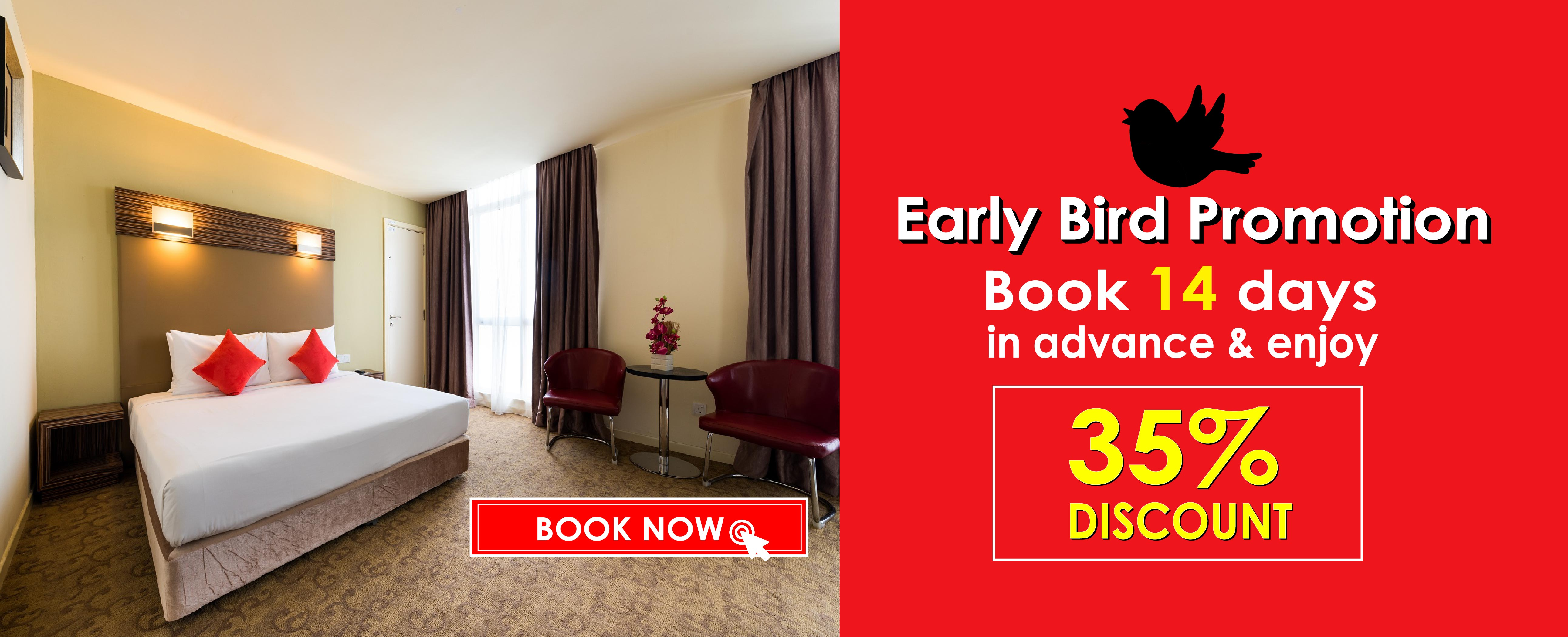 Hotel Sentral Kuantan Early Bird Promotion
